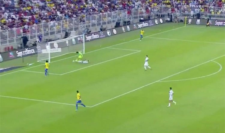 Liverpool goalkeeper Alisson risks ANOTHER mistake with Brazil blooper against Argentina