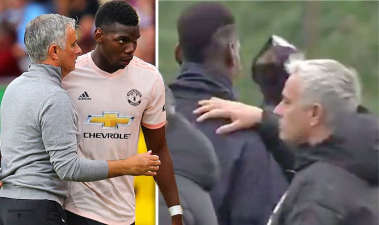 Did you see how Paul Pogba and Jose Mourinho greeted each other at Man Utd training today?