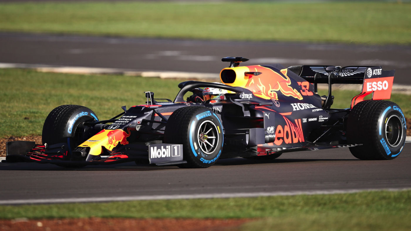 Max Verstappen prowadził Red Bull Racing RB16 na Silverstone