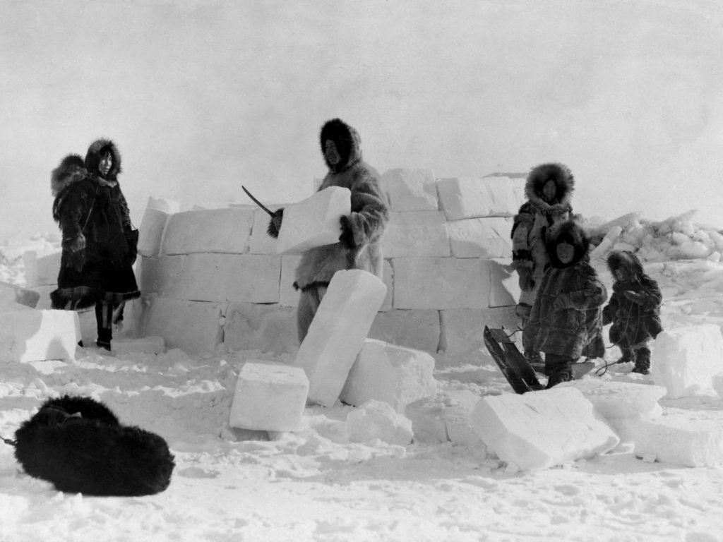 In frozen and other harsh environments where resources are sparse, traditional indigenous people had to innovate – whether by using ice to make buildings or using fish skin to make the leather, intestines to make sails or animal tusks to make harpoons