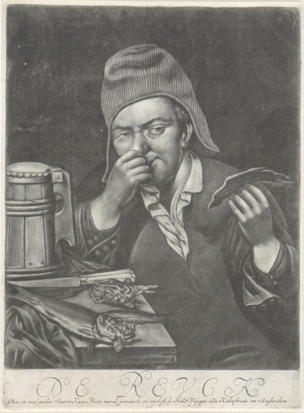 Depiction of the sense of smell painted around 1680 - the artist is not known.