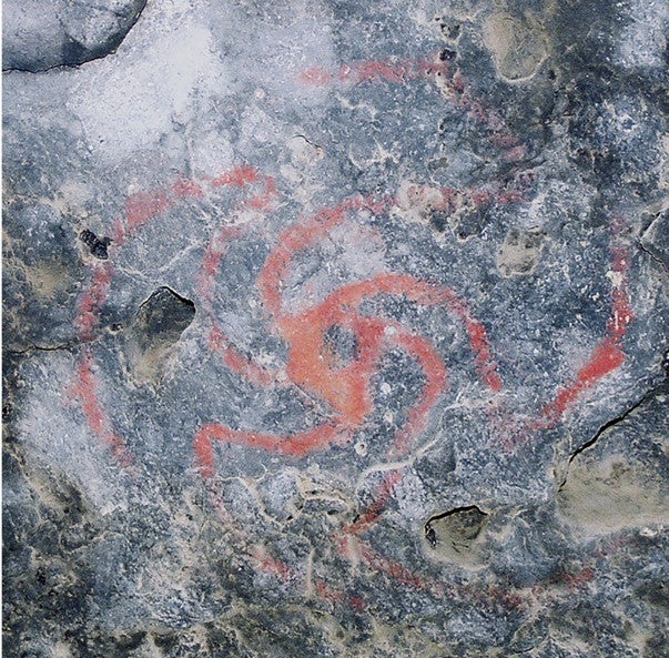 Pinwheel painting in the cave in California
