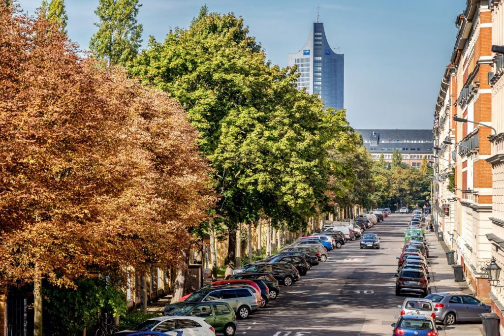 A high density of street trees could help mental health (Leipzig, Germany)