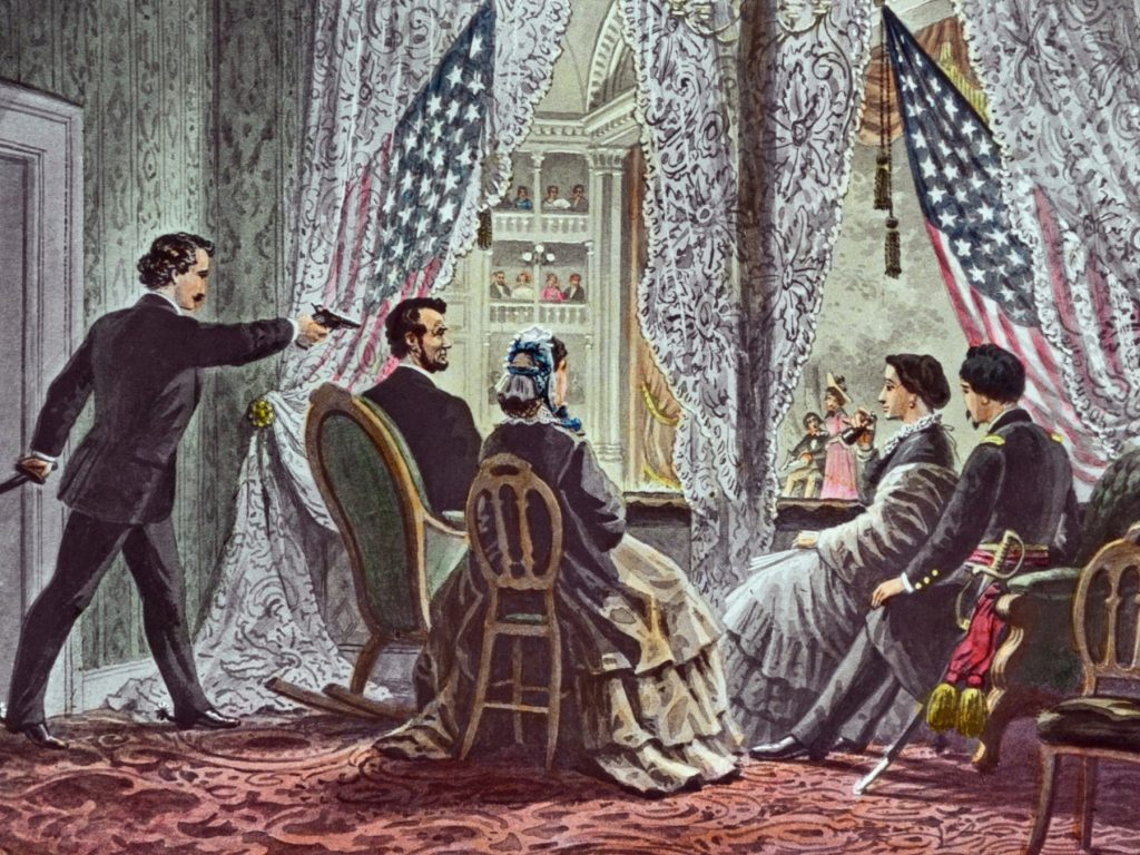 <p>How Lincoln's assassination was portrayed</p>