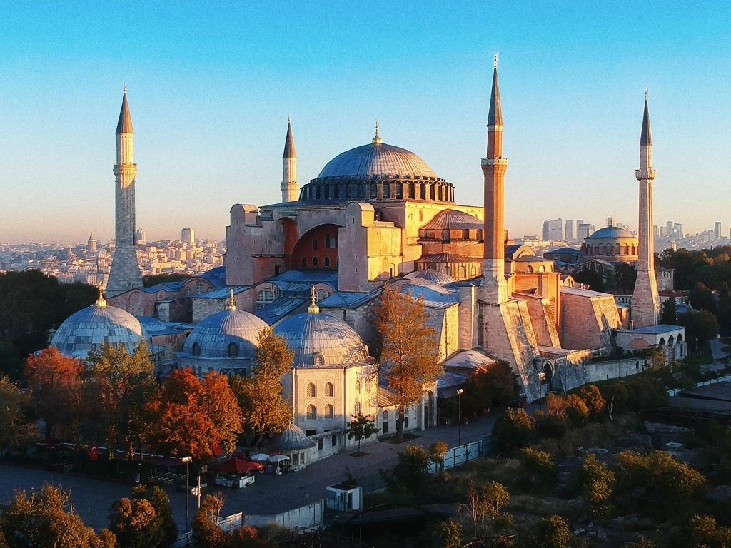 <p>Hagia Sophia today: Over the past 1500 years it has been a Greek Orthodox and Catholic cathedral, an Ottoman mosque, a museum - and again now a mosque</p>